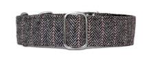 Martingale Collar [Herringbone Tweed BW]