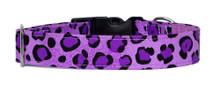 Clasp Collar [Leopard Purple]
