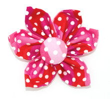 Flower [Polka Stripes Pink]
