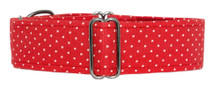 Martingale Collar [Tiny Dots Red]