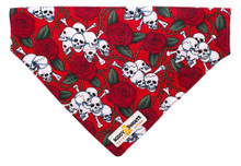 Bandana [Skulls & Roses] Red