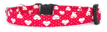 Cat Collar [Love Hearts-Red]