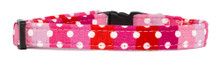 Cat Collar [Polka Stripes-Pink]