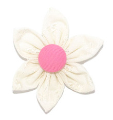 Flower [Broderie Ivory / Pink]