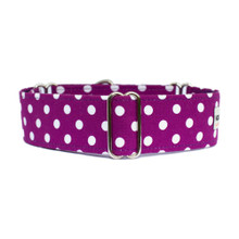 Martingale Collar [Deep Purple Polka Dots]