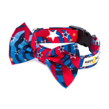Clasp Collar with Bow Tie [Captain America]