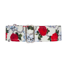 Martingale Collar [Skulls & Roses Cream]