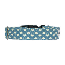 Clasp Collar [Hearts Blue]