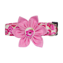Clasp Collar with Flower [Poppy Pink]