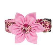 Clasp Collar with Flower [Ditsy Flowers Pink]