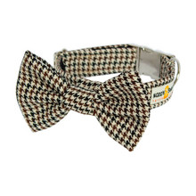 Clasp Collar with Bow Tie [Tweed Dog Tooth BB]