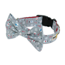 Clasp Collar with Bow Tie [Xmas Snowmen]
