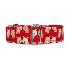 Martingale Collar [Xmas Reindeers - Red]