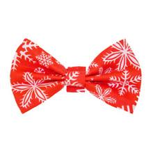 Bow Tie [Xmas Snowflakes Red]