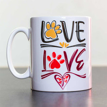 Ceramic Mug 10oz [295ml] Love Paws