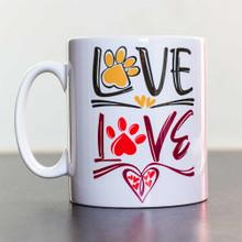 Ceramic Mug 10oz [295ml] Love Paws