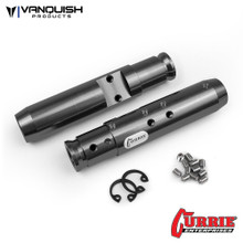 Currie SCX10 Rear Tubes Grey Anodized