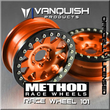 Method 2.2 Race Wheel 101 Orange/Black Anodized