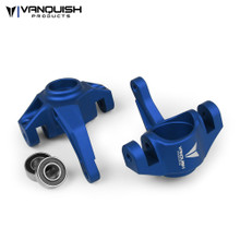 Axial Yeti / EXO Steering Knuckles Blue Anodized