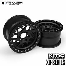 "KMC 2.2 XD127 Bully (1.2"" Wide) Black/Black Anodized"