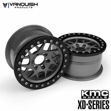 "KMC 2.2 XD127 Bully (1.2"" Wide) Grey/Black Anodized"