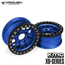 KMC 1.9 XD127 Bully Blue Anodized