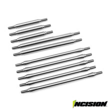 Incision TRX-4 Stainless Steel 10pc Link Kit - 12.3in Wheelbase (Non Sport Models)