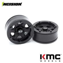 Incision 1.9 KMC KM233 Hex Black Plastic