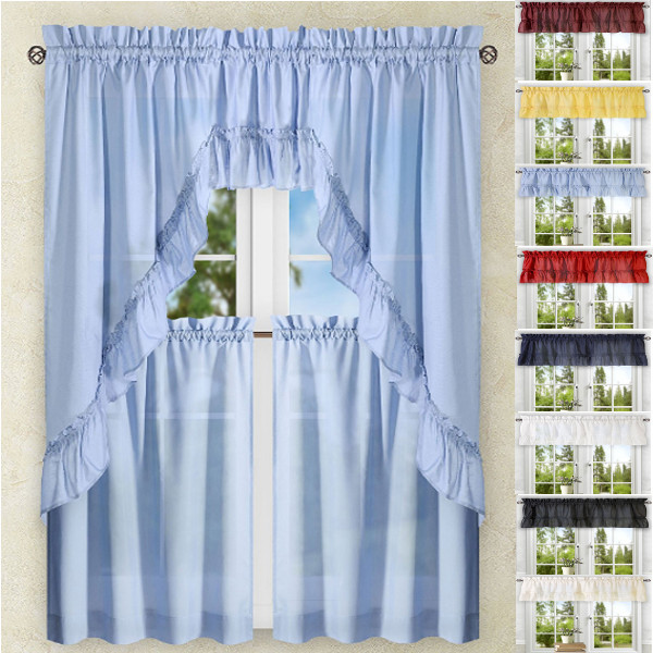 Kitchen Curtains Tiers Swags Valances Lace Kitchen