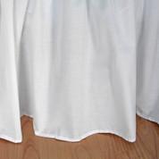 "Broadcloth Bedskirt King - 22"" drop"