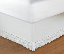 "Crochet Bedskirt King - 18"" DROP"