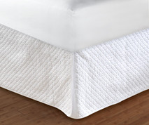 "Diamond Bedskirt King - 18"" DROP"