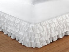 "Ruffled Bedskirt Queen - 15"" DROP"