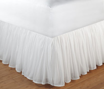"Voile Bedskirt Full - 15"" DROP"
