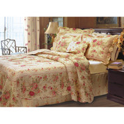 Antique Rose Quilt SET King