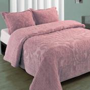 Ashton Bedspread Full - Rose