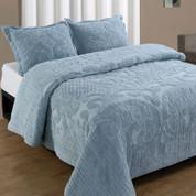 Ashton Bedspread Queen - Blue