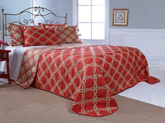 Belmont Bedspread Full - CORAL