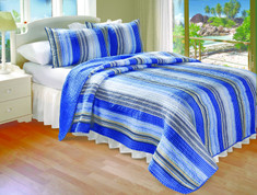 Brisbane Stripe Quilt SET - Full/Queen