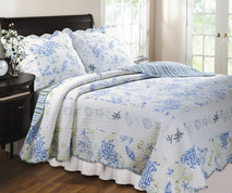 Coral Blue Quilt Set King
