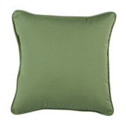 Jamaican Sunset - Square Throw Pillow - Leaf Green