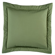 Jamaican Sunset - Square Euro SHAM - Leaf Green