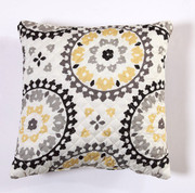Melina Throw Pillow - Charcoal