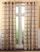 Melina Grommet Top Curtain Panel - Chocolate