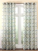 Melina Grommet Top Curtain Panel - Spa