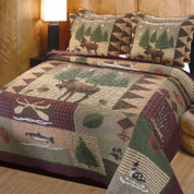 Moose Lodge Quilt Set King