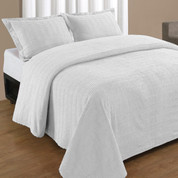 Natick Bedspread Queen - White