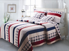 Nautical Stripes Quilt Set King