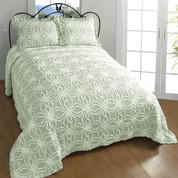 Rosa Bedspread Queen - Sage