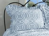 Rosa Pillow Sham - Blue